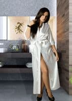 Plus Size Long Satin Dressing Gown    Nine X